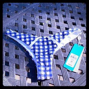 Beach Bunny Audrey Bottom Brand New blue & white
